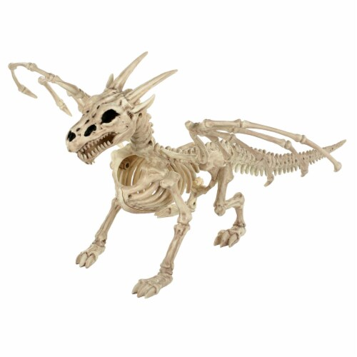 Holiday Home Large Dragon Skeleton Decor Perspective: front