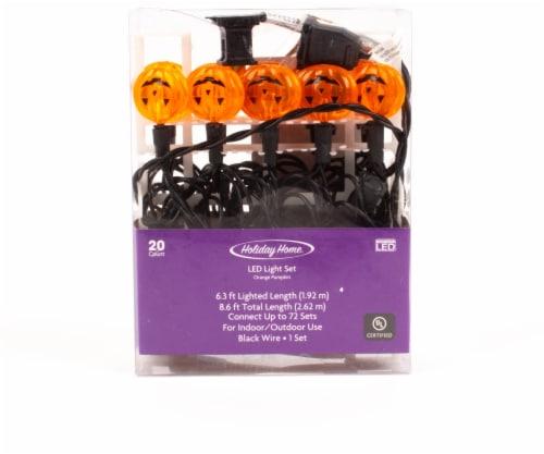 Holiday Home® 20 LED Pumpkin Lights Set - Orange Perspective: front