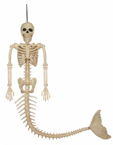 Holiday Home Skeleton Mermaid Decor Perspective: front