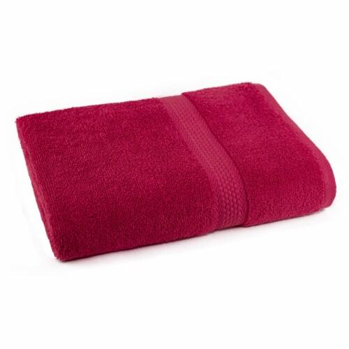 Everyday Living Bath Towel - Crimson Perspective: front