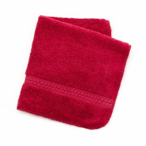 Everyday Living Wash Cloth - Crimson Perspective: front