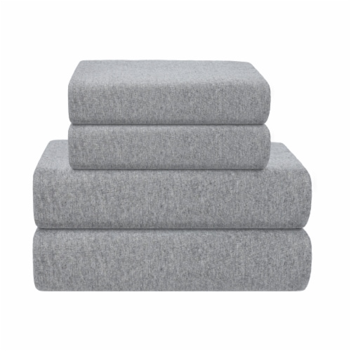 Everyday Living Jersey Sheet Set - 4 Piece - Heather Gray Perspective: front