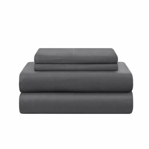 Modavari Home Fashions Full Size Sheet Set - Dark Grey Perspective: front