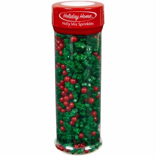 Holiday Home™ Christmas Holly Mix Sprinkles - Green/Red Perspective: front