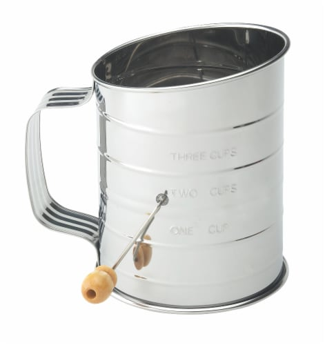 Harold Import Co. 3-Cup Flour Sifter - Silver Perspective: front