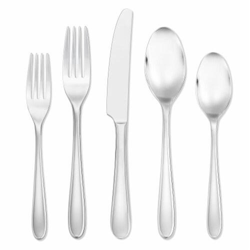 Dash of That Kellie Flatware Set - Silver Perspective: front