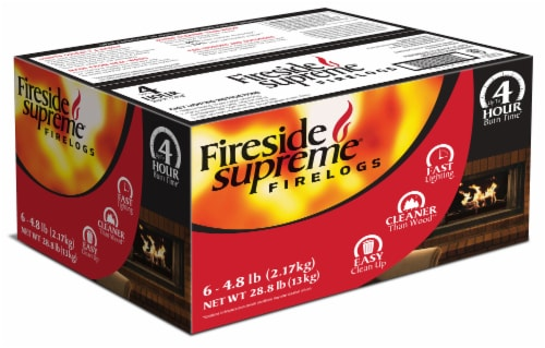 Fireside Supreme® Firelogs Perspective: front