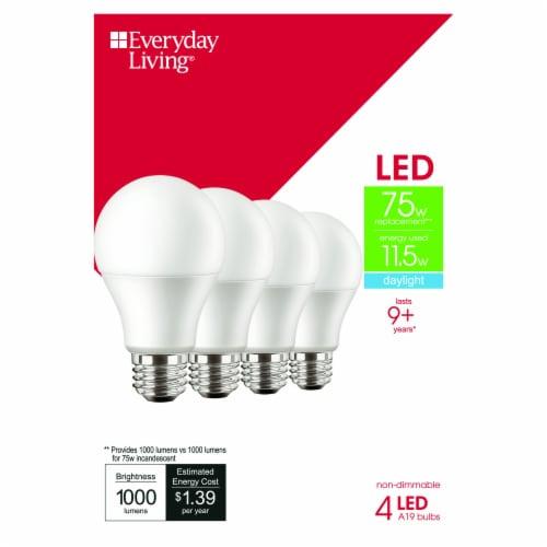 Everyday Living® 11.5-Watt (75-Watt) A19 LED Light Bulbs Perspective: front