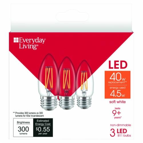 Everyday Living® 4.5-Watt (40-Watt) B11 LED Light Bulbs Perspective: front