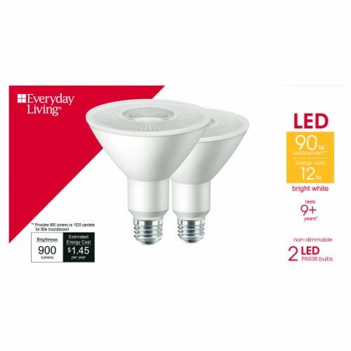Everyday Living® 12-Watt (90-Watt) PAR38 LED Floodlight Bulbs Perspective: front