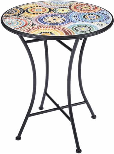 HD Designs Outdoors Bistro Table - Rainbow Burst Perspective: front