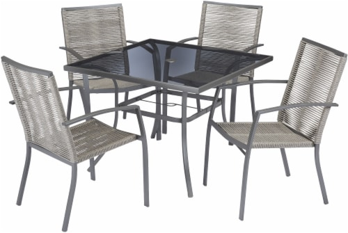 HD Designs Outdoors® Havana Dining Set - Gray Perspective: front