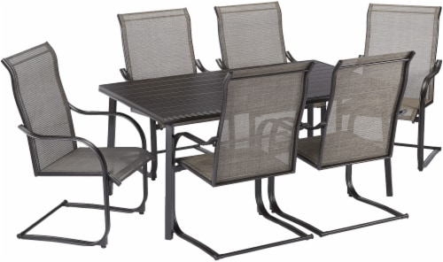HD Designs Outdoors Delmar Spring Dining Set - Brown Perspective: front