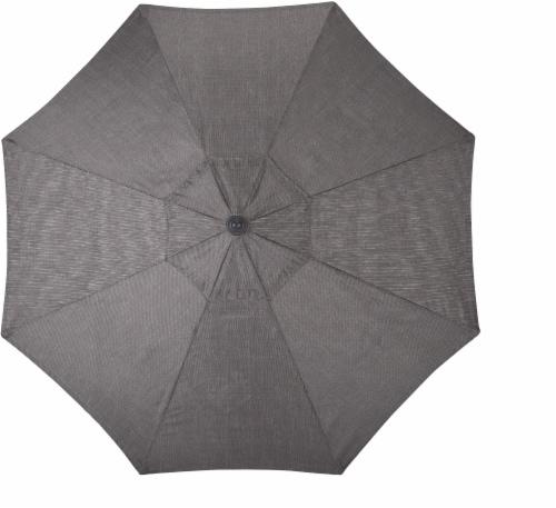 HD Designs Outdoors Delmar Fabric Umbrella - Gray Perspective: front