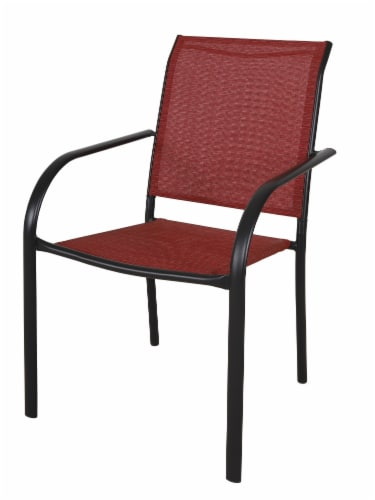 HD Designs Outdoors Orchards Dining Chair - Red Perspective: front