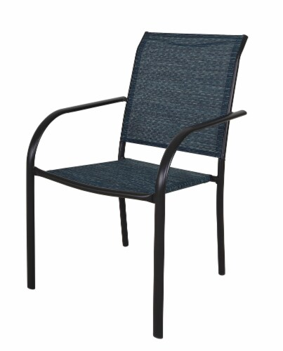 HD Designs Outdoors Orchards Dining Chair - Blue Perspective: front