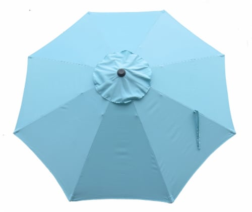HD Designs Outdoors Umbrella - Marine Blue Perspective: front