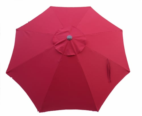 HD Designs Outdoors Umbrella - Rio Red Perspective: front