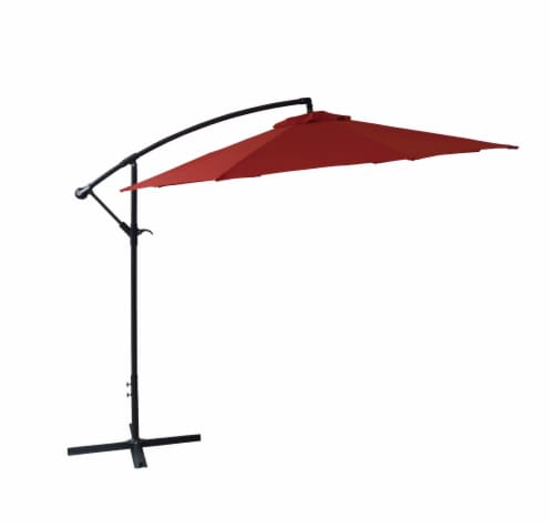 HD Designs Outdoors® Offset Umbrella - Rio Red Perspective: front