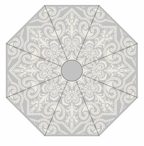 HD Designs Outdoors Market Scrolls Umbrella Perspective: front
