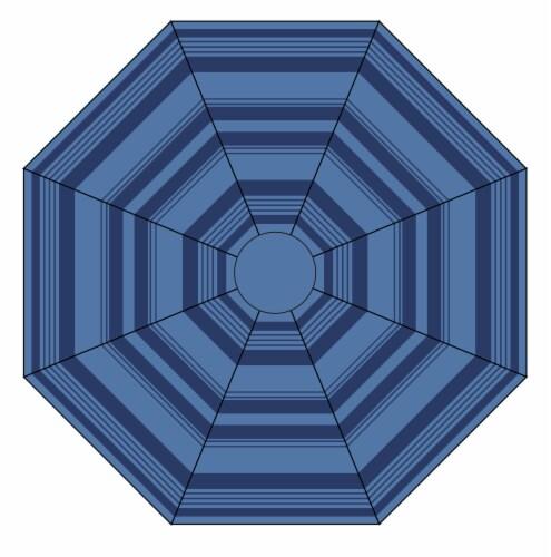 HD Designs Outdoors Market Umbrella - Stripe Perspective: front