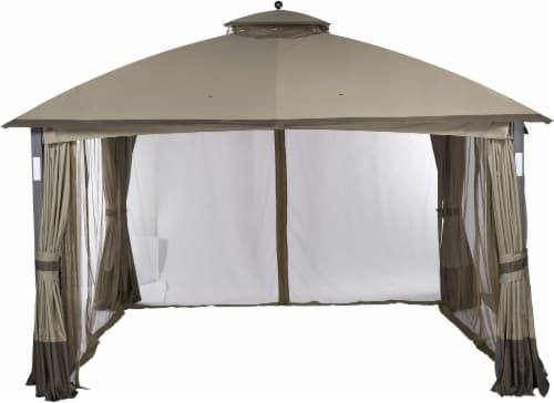 HD Designs Outdoors San Jose Gazebo - Beige Perspective: front