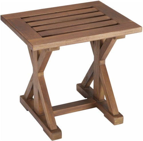 HD Designs Outdoors Pembrey Stool - Natural Wood Perspective: front