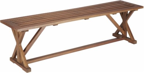 HD Designs Outdoors Pembrey Bench - Natural Wood Perspective: front