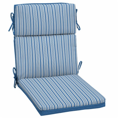 HD Designs Outdoors Ticking Stripe Replacement Cushion - Blue Perspective: front