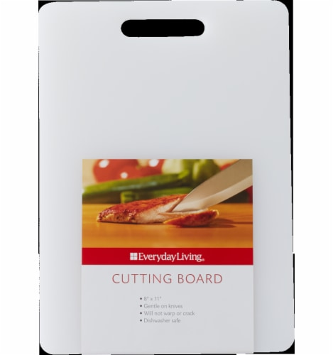 Everyday Living® Rectangular Cutting Board - White Perspective: front
