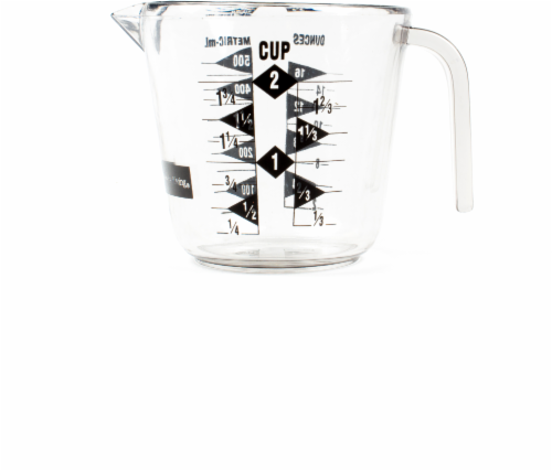 Everyday Living® Plastic Measuring Cup - Clear Perspective: front
