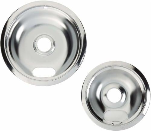 Everyday Living Range Burner Pans - Silver Perspective: front