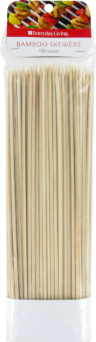 Everyday Living® Bamboo Skewers - Natural Wood Perspective: front