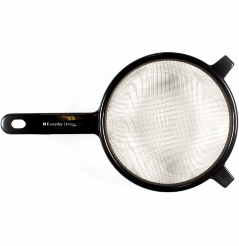Everyday Living® Stainless Steel Strainer - Black Perspective: front
