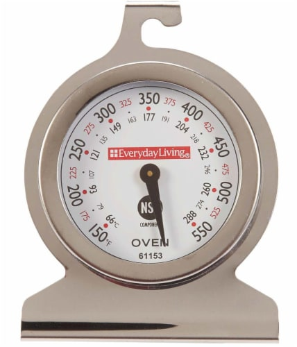 Everyday Living® Stainless Steel Oven Thermometer Perspective: front