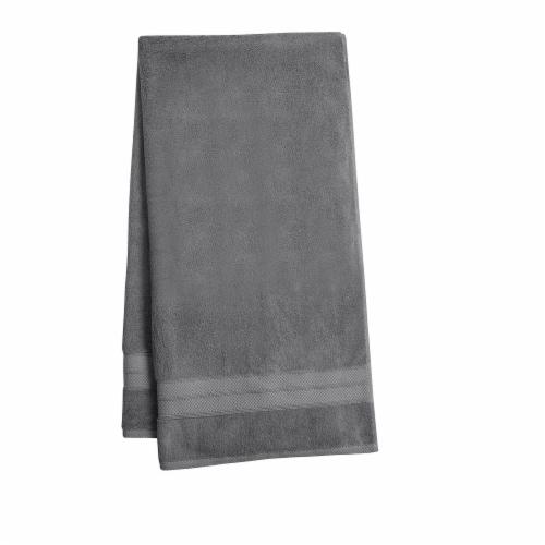 HD Designs Turkish Bath Towel - Gray Perspective: front