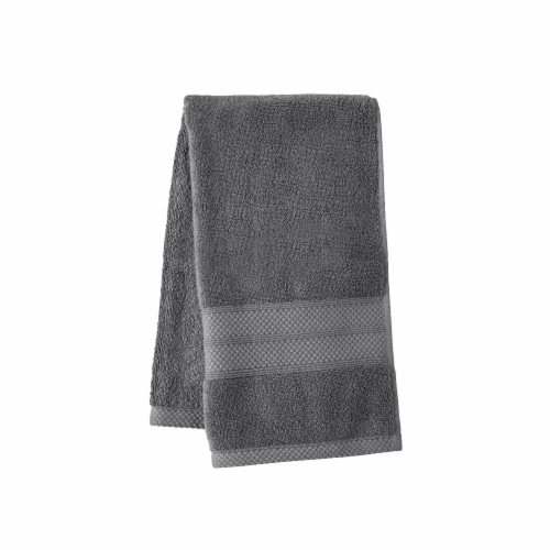 HD Designs Turkish Hand Towel - Gray Perspective: front