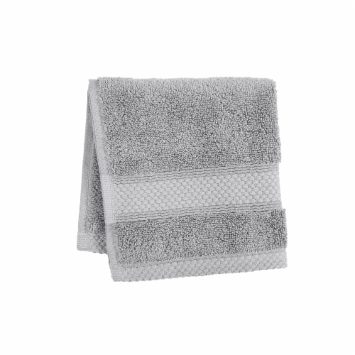 HD Designs Turkish Washcloth - Gray Perspective: front
