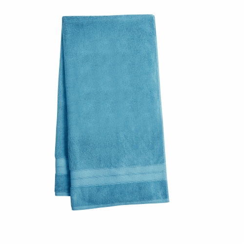 HD Designs Turkish Bath Towel - Blue Perspective: front