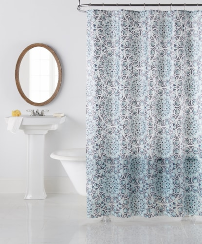 King Soopers Everyday Living Leyah Shower Curtain Blue 1 Ct