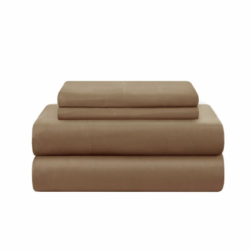 Modavari Home Fashions Queen Sized Sheet Set - Tan Perspective: front