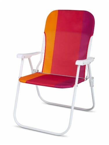 HD Designs® Folding Chair - Red/Orange/White Perspective: front