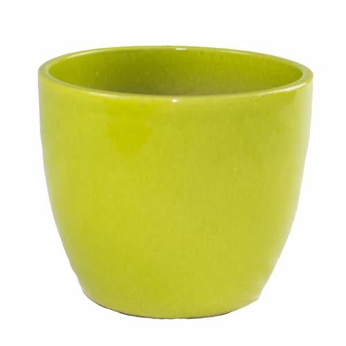 The Joy of Gardening Planter - Yellow Perspective: front