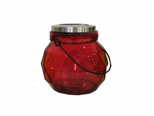 HD Designs Outdoors Solar Jar Decor - Red Perspective: front