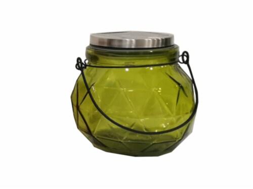 HD Designs Outdoors Solar Jar C Decor - Green Perspective: front