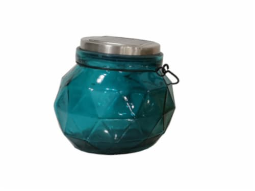 HD Designs Outdoors Solar Jar Decor - Blue Perspective: front