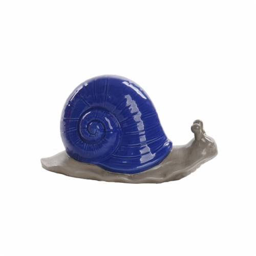 The Joy of Gardening Dolomite Snail - Blue/Gray Perspective: front