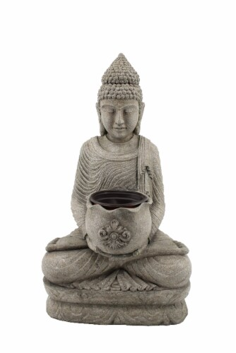 The Joy of Gardening Sitting Buddha Flower Pot Perspective: front