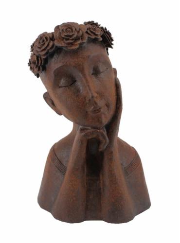 The Joy of Gardening Girl Flower Pot Perspective: front