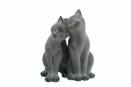The Joy of Gardening Cat Lovers Statue Garden Decoration Perspective: front